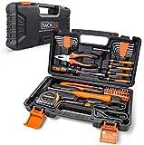 Haushalts-Werkzeugkoffer,TACKLIFE 56-teilig Haushaltskoffer, Multifunktion-Werkzeugkoffer für den Heimgebrauch, perfekt für alle...