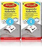 Aeroxon Ungeziefer Köder-Falle 8 Stück – zuverlässiges fangen von Ungeziefer – Schabenfalle, Silberfischfalle, Insektenfalle, auch gegen...