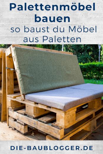 Palettenmöbel bauen Pinterest