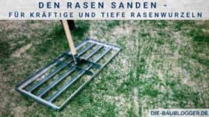 Den Rasen sanden - Für kräftige und tiefe Rasenwurzeln